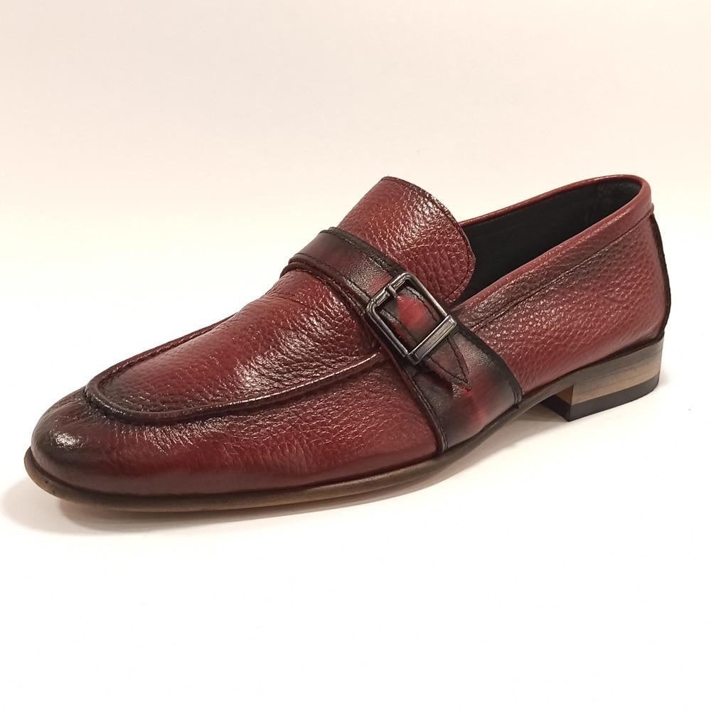 حذاء رجالي فاخر أحذية كلاسيكية نمط جلد طبيعي قالب إيطالي الانزلاق على تنفس الرسمي الأعمال فستان القيادة عادية