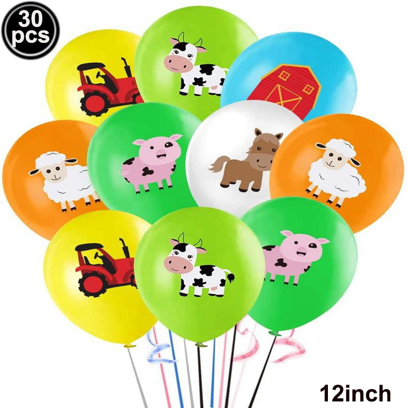 Farm Animal Party Decoration Birthday Balloon Cow Sheep Latex Ballon Theme Baby Shower Supplies Favor Gifts