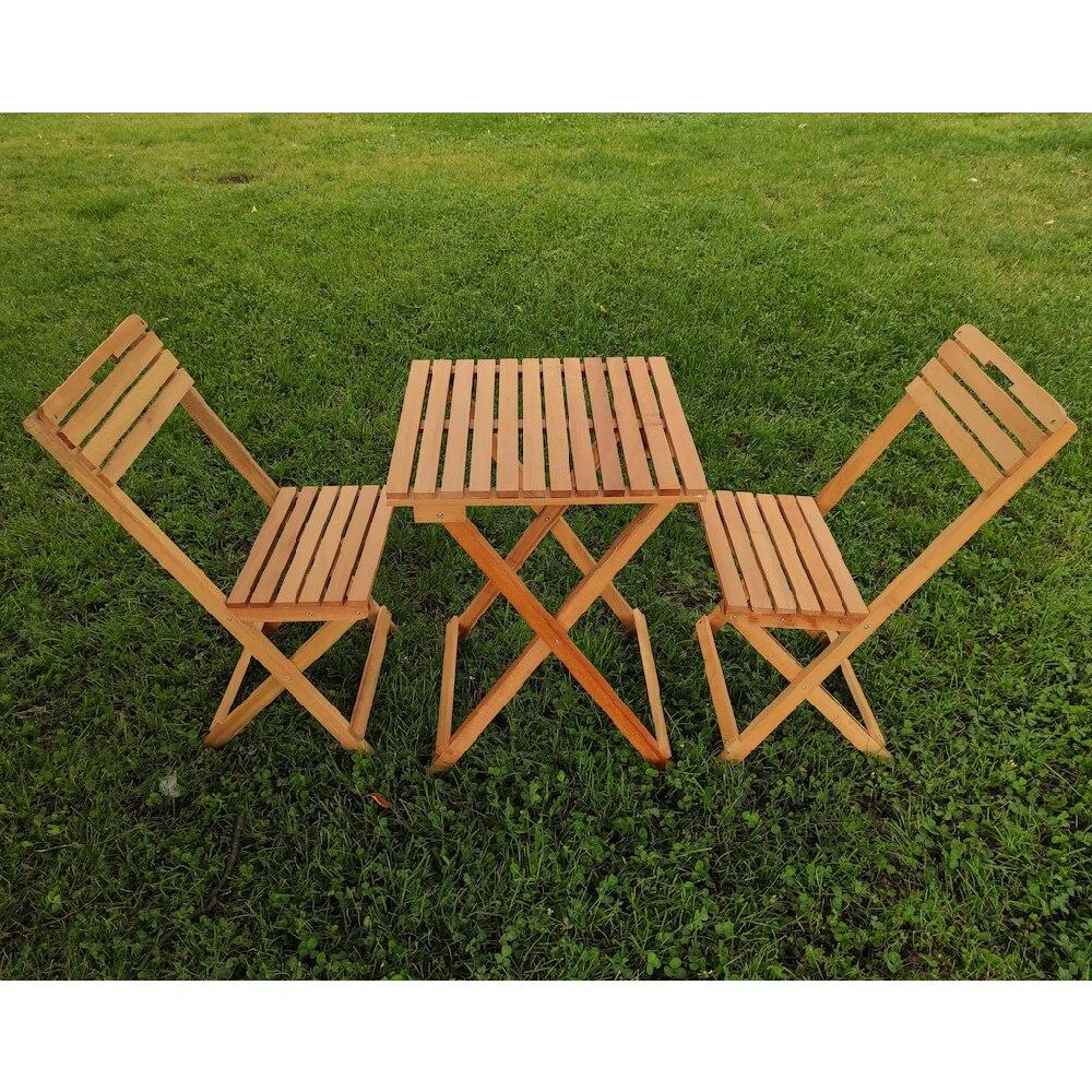 للطي حديقة في الشرفة المطبخ طاولة خشبية كرسي 3'lü طقم حانة صغيرة شرفة صغيرة طاولة ومقاعد للطي الباحة حديقة المنزل