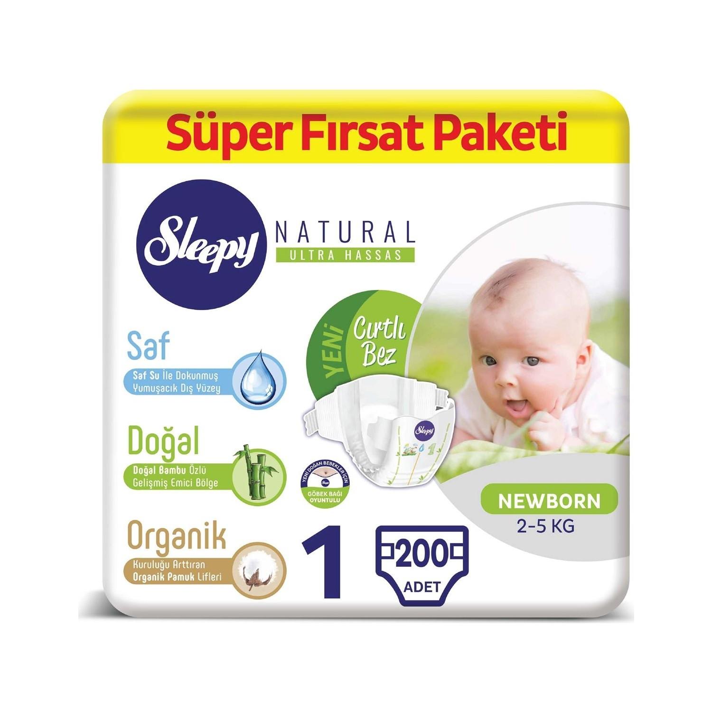 Sleepy Baby Diaper Number 1 Newborn Super Advantage Pack 200 pcs