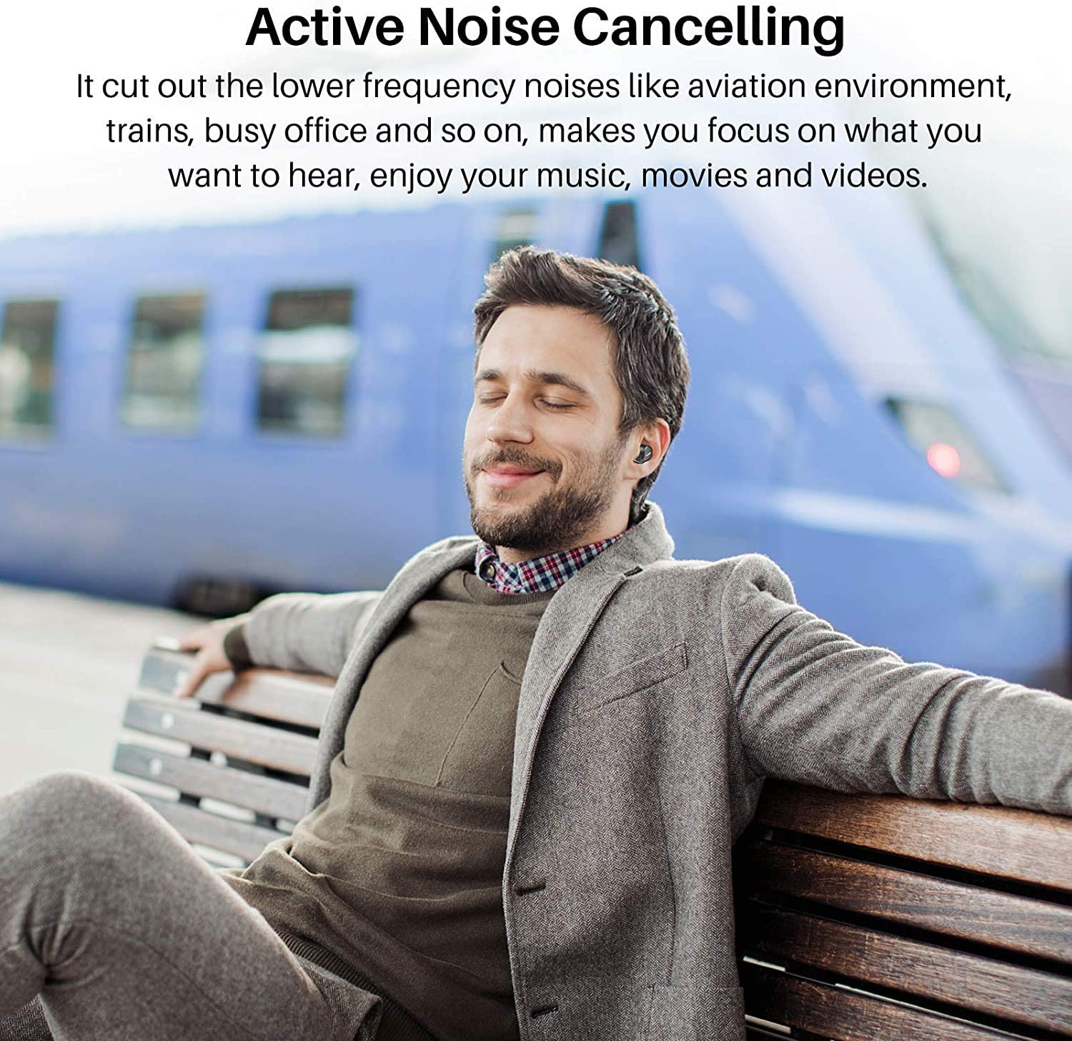 TOZO NC7 Earphone Bluetooth Wireless Headphones with Microphone ANC in-Ear Detection Headset IPX6 Waterproof Stereo TWS Earbuds enlarge