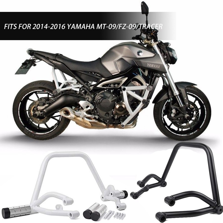 Subcage Stunt Cage Rear Passenger Peg Crash Bar Engine Guard for Yamaha MT09 FZ09 MT FZ 09 Tracer MT-09 FZ-09 2014 2016 2015 недорого