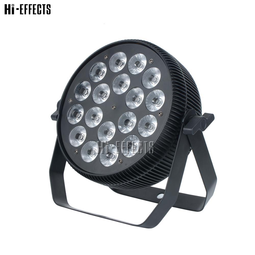 2 unids/lote 18*10W LED Par luz RGBW 4 en 1 Uplight para la venta de Dj plano Par luces de escenario para bodas fiesta de discoteca