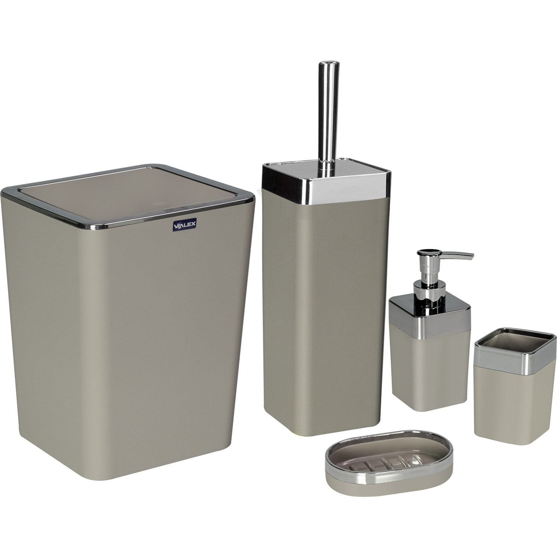 OceanLand 5 Lux Bathroom Set quality acrylic material home  Soap Dispenser Soap dish Outer Brush Holder Bucket Toilet Brush enlarge