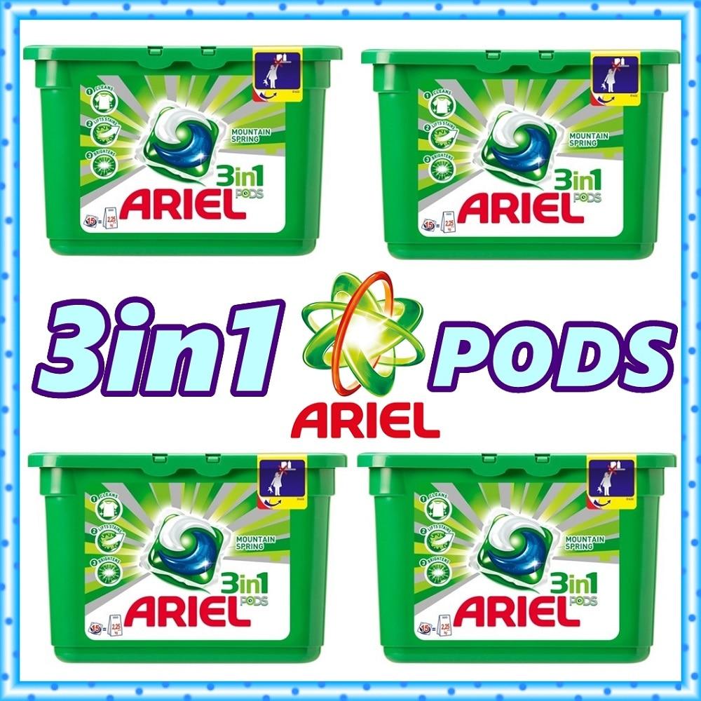 Detergente para Roupa Lavagem em pó Gamble para Máquina de Lavar Cápsulas Concentradas Ariel Cápsula Tablet Procter & Roupa 60 3in1