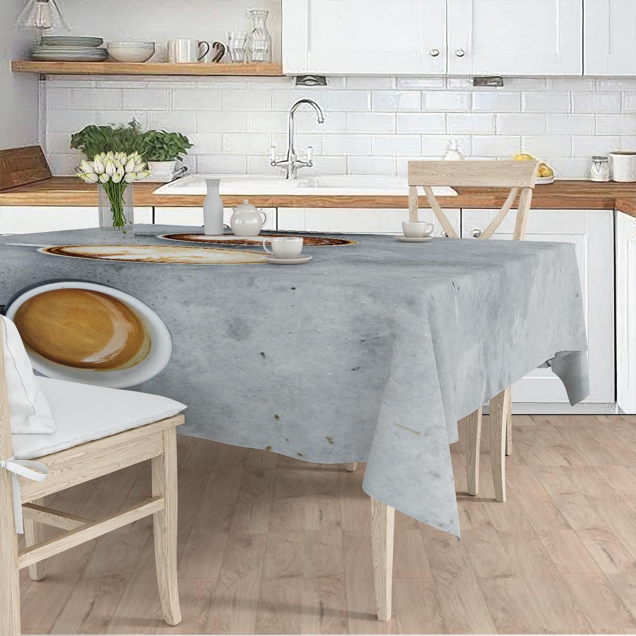 مفرش طاولة غرفة المعيشة مطبخ رمادي اللون القهوة الطعام نمط مايكرو غطاء من القماش عداء نمط شحن مجاني