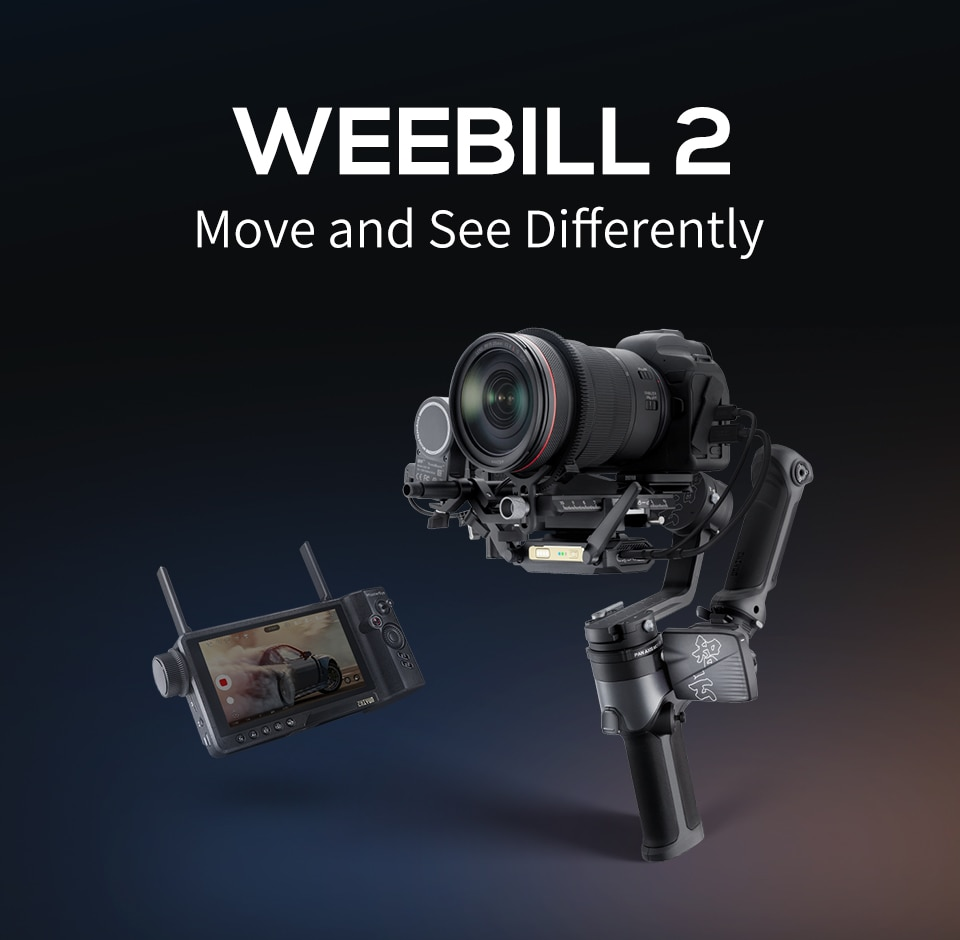 ZHIYUN Weebill 2 Gimbal Stabilizer Mirrorless/DSLR Camera 3-Axis Handheld Stabilizer with Screen for Canon/Sony/Nikon/Panasonic