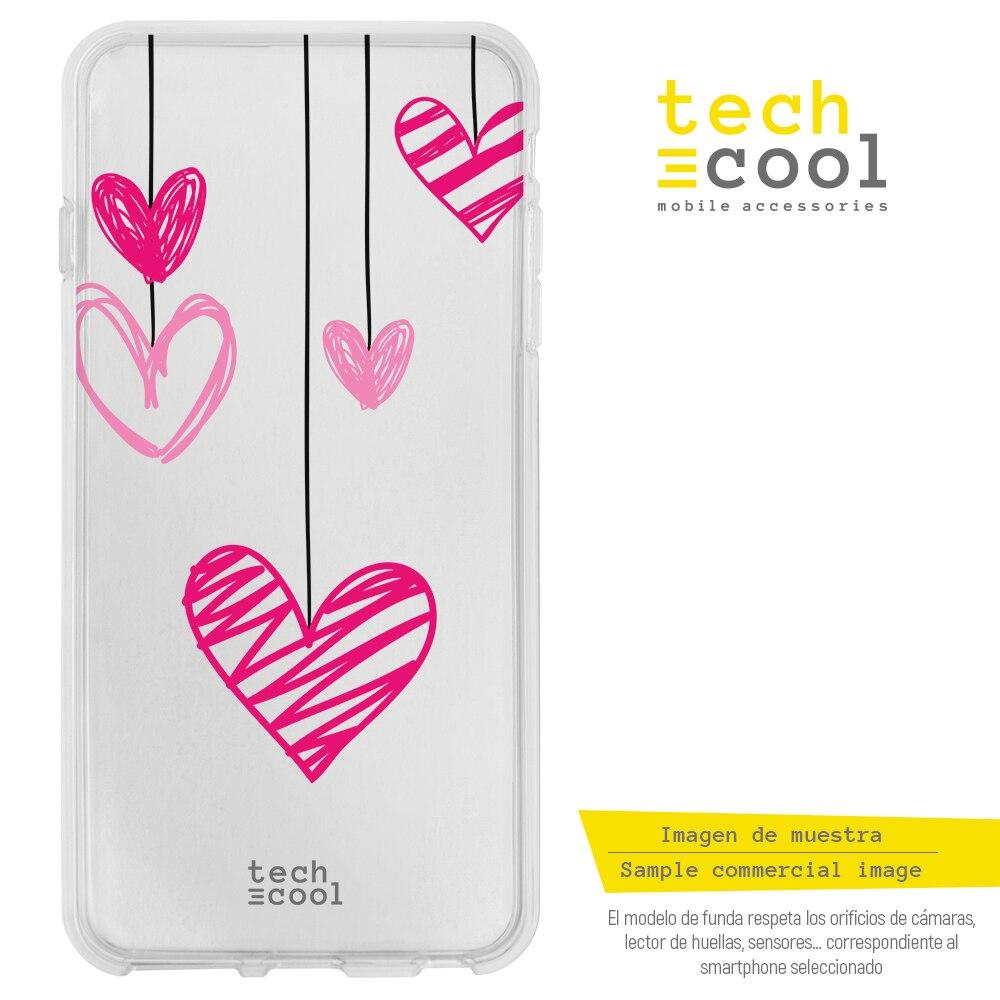 FunnyTech® Funda Silicona para Xiaomi MI6  Corazones colgantes transparente