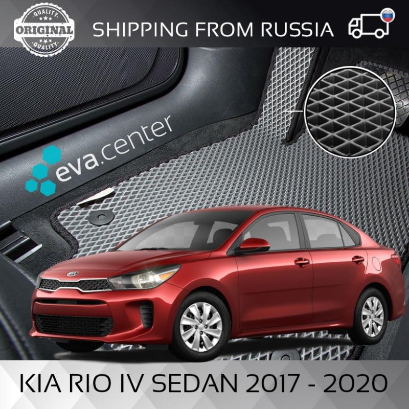 Car Mats Eva for Kia Rio IV (4) 2017 - 2020 set of 4x mats and jumper/Eva mats car