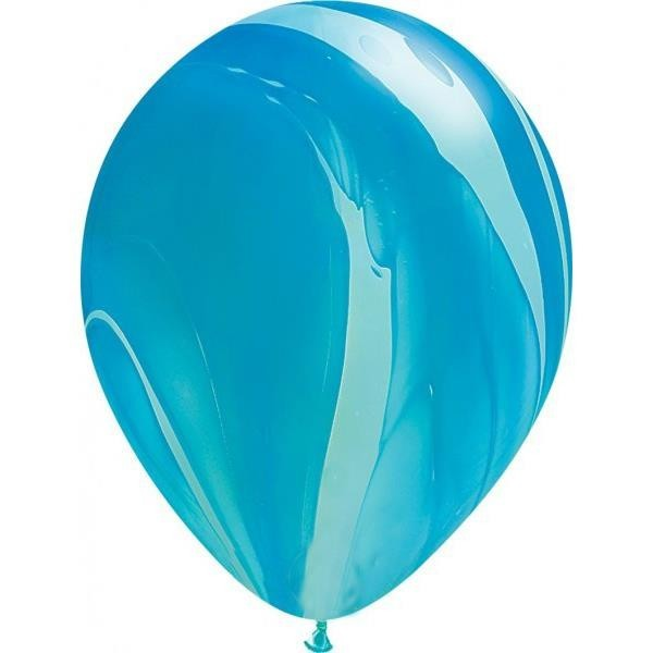 Globos Agate Azul Qualatex (Pack de 25) para decoración de fiestas de cumpleaños, comuniones y aniversarios