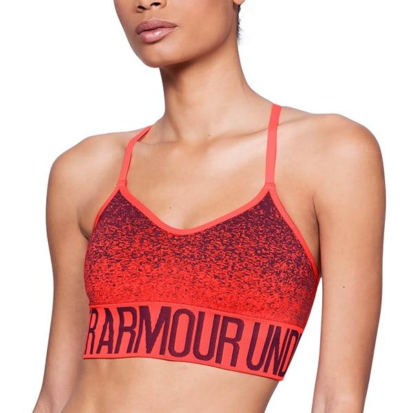 Sujetador deportivo Under Armour 1282916-985 naranja (talla l)