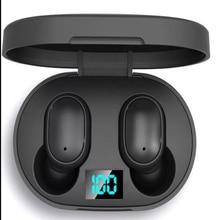 Mini Headset E6s Smart Digital Display wireless bluetooth headphones earbuds Stereo sport Earbud air