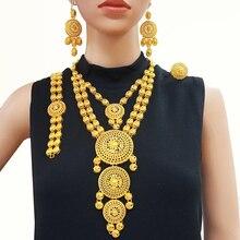 Gros ensembles de bijoux en or indien collier en or bijoux pour femmes cadeau de mariage africain luxry accessoires de haute qualité BJW21