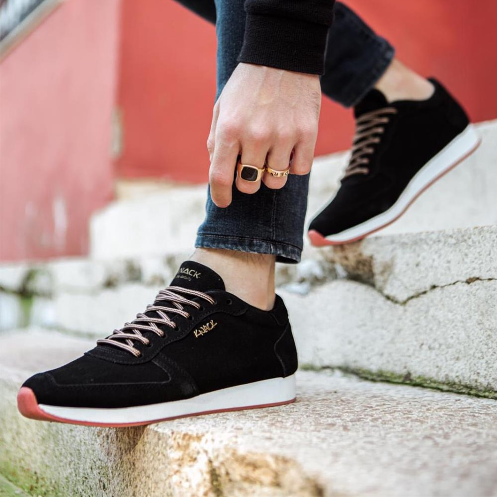 Knack Casual Men's Shoes Suede Black Sport Casual Use Lace-up Summer 2021 Fashion Running Men's Summer Stylish for Teens Sneakers Men Sneakers Men Luxury Shoes Shoes For Men With Free Shipping Summer Shoes  002
