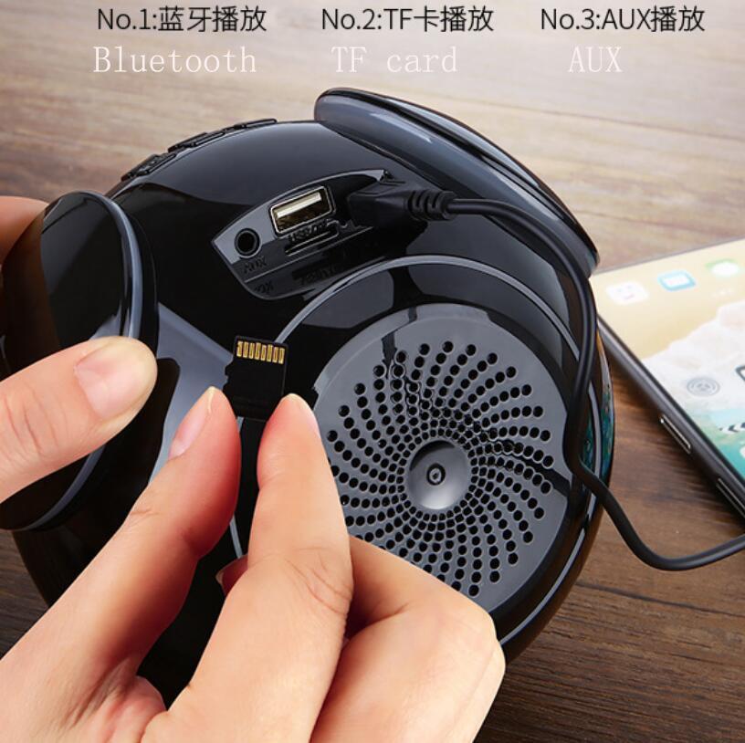 Wireless Bluetooth Portable Speaker Desktop Digital Alarm Clock Creative Outdoor MP3 Smart Audio Subwoofer Speakers enlarge