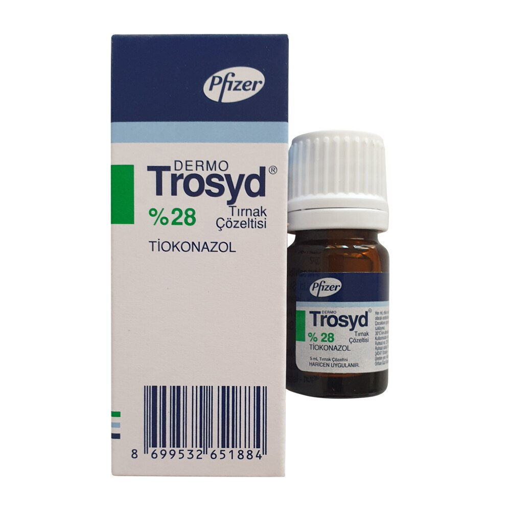 Trosyd 5 ML 28% Nail Solution Superficial Treatment of Nail Infections Caused by Fungi and Bacteria