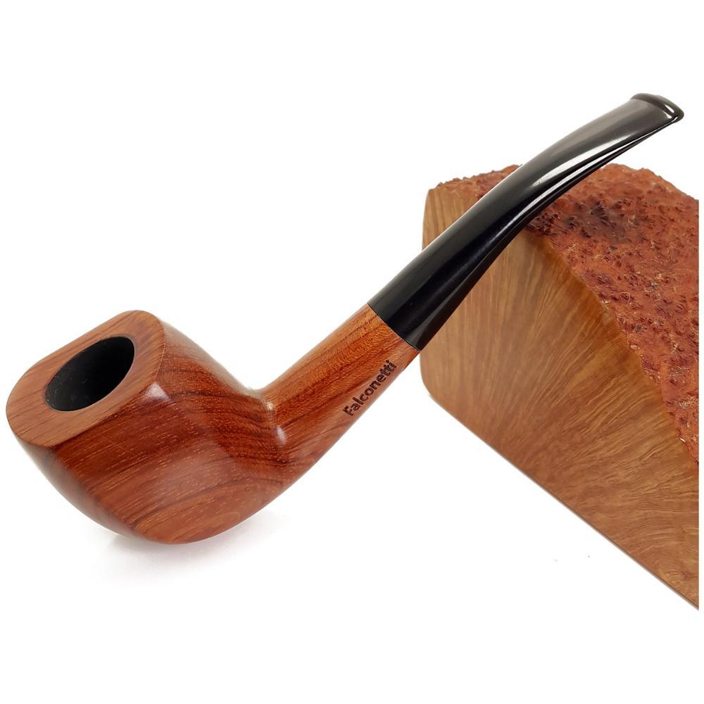 Pipa hecha a mano mate de árbol de caoba   Humo   Fumar   Artesanías de madera   Pipa de tabaco   Hombre   Regalo