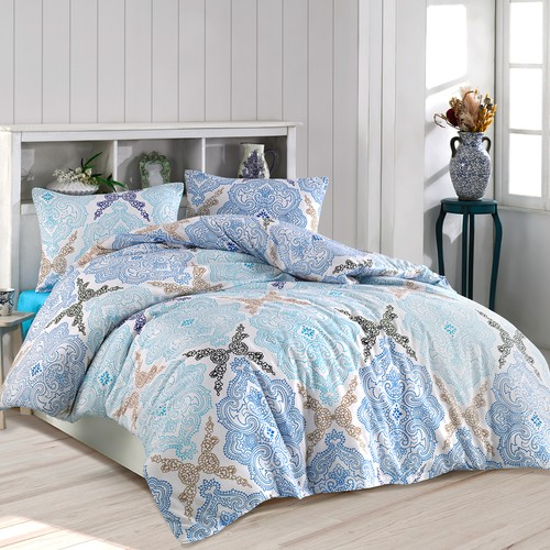 All Home Double Personality Duvet cover set Damask Blue Bed for Covers Home Textile Luxury Bedspreads