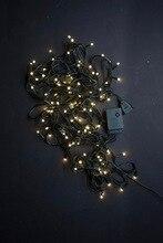 Guirlande strand holiday pour la décoration intérieure, 9 m, ac220v, cordon couleur claire, 100 diode couleur blanc