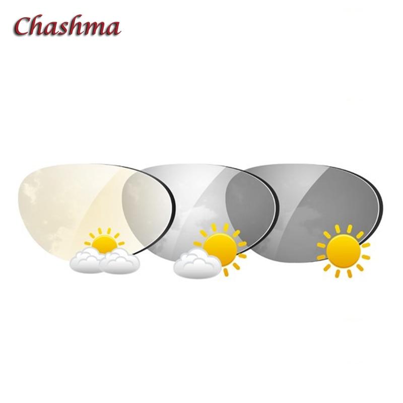 Chashma-عدسات فوتوكرومية مضادة للخدش ، عدسات رمادية وبنية للعين ، مؤشر 1.61 ، الأشعة فوق البنفسجية ، مضاد للانعكاس