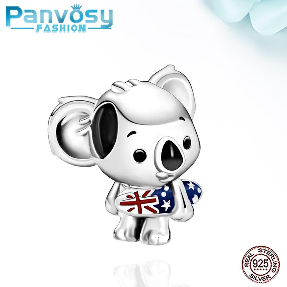Nuevo Animal de Koala de 925 de plata de ley encantos 925 Original 2020 pulsera Charm bricolaje cuentas para hacer joyería regalo de las mujeres