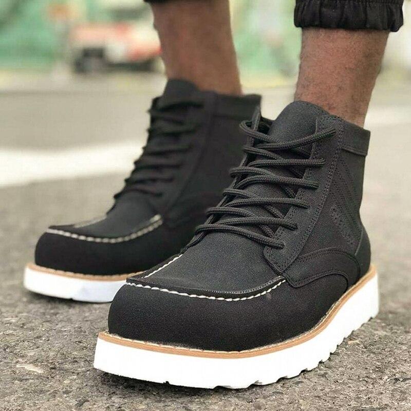 Chekich Boots for Men Boot Men's Winter Shoes Fashion Snow Boots Shoes Plus Size Sneakers Ankle Men Shoes Winter Boots Footwear Men Basic Boots Shoes Men 2020 Spring Fashion Winter Boots For Men Zapatos Hombre CH047