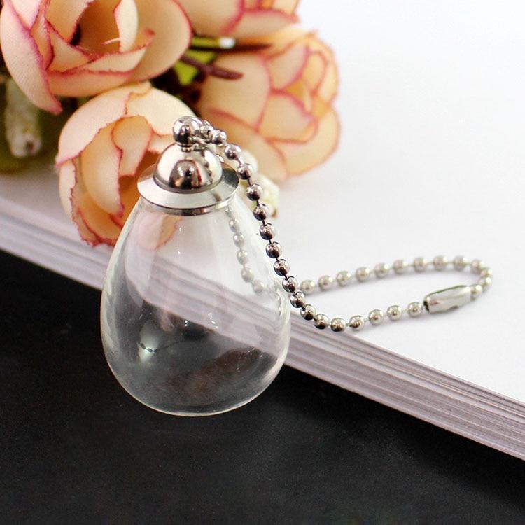 2 uds. Llavero Botella de deseo Perfume, llavero de botellas, bola de cristal transparente con tapa de tornillo prepegada, llavero de recuerdo rellenable