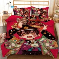 3 pcs luxury duvet cover set fashion anime hanako kun bedding sets comforter duvet cover pillowcase home textiles