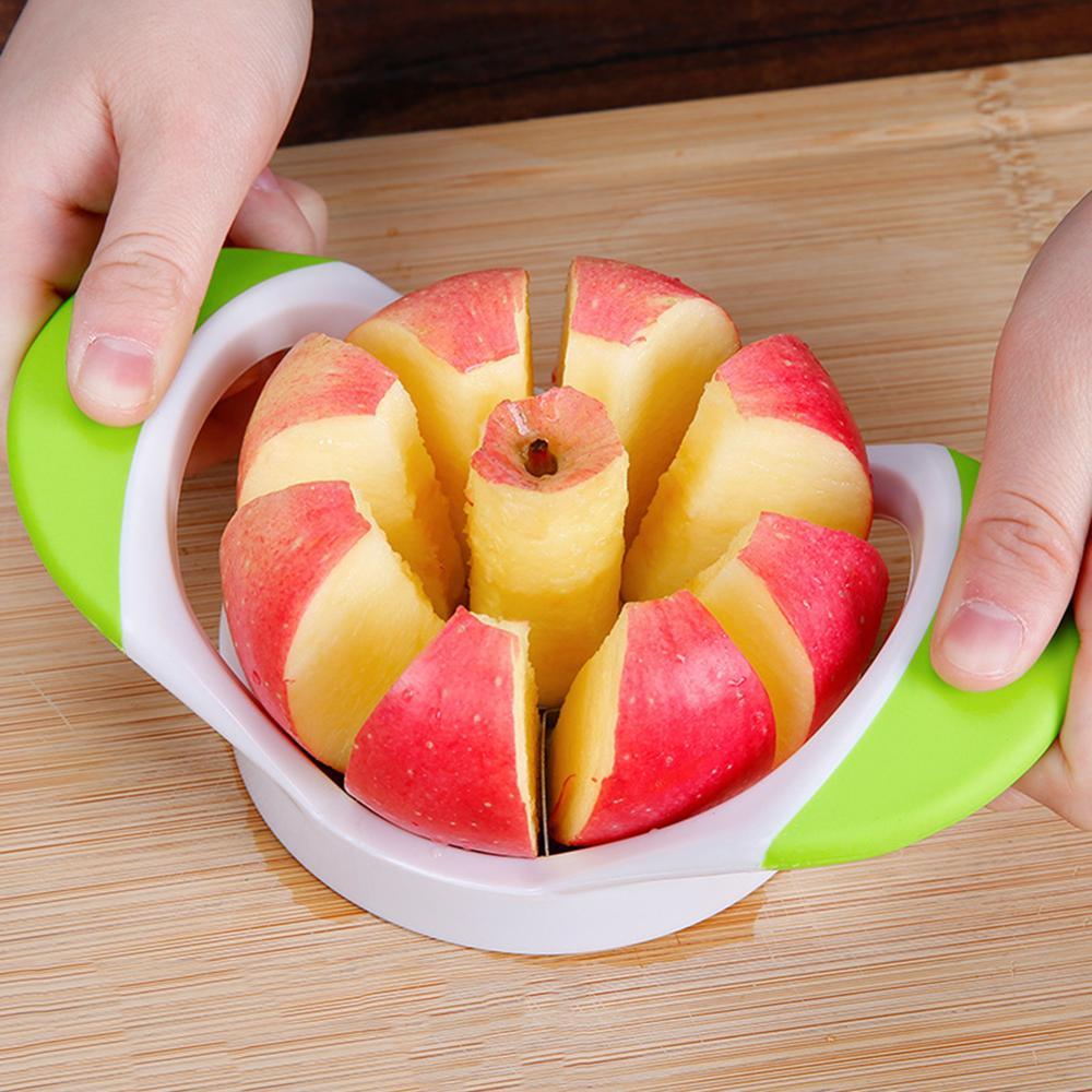Cortador de verduras de acero inoxidable, fruta, manzana, pera, corte creativo, práctico, artefacto de fruta, cocina Simple