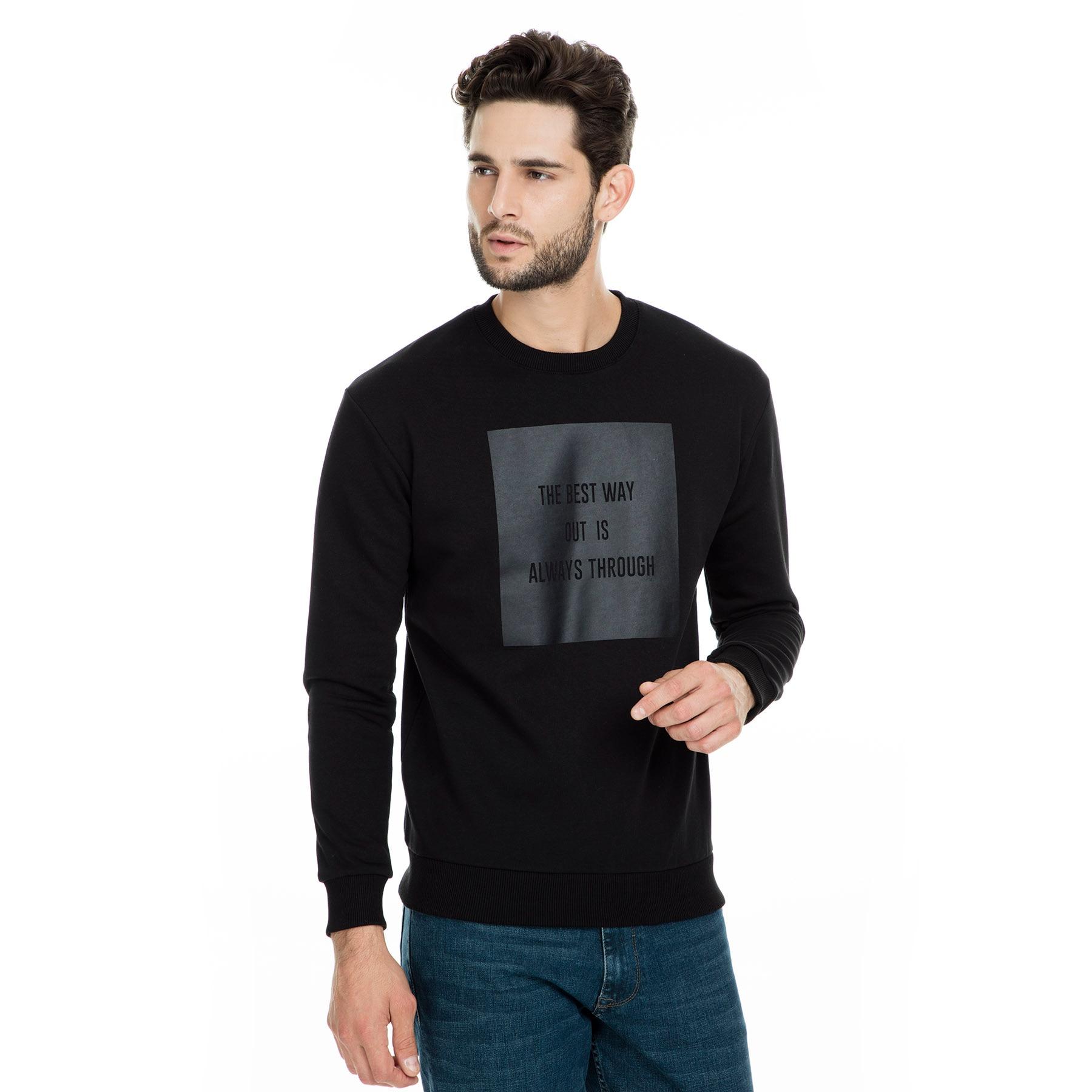 Buratti Sport Printed Sweat Long Sleeve Male Sweat Autumn Sweatshirt Fashion Men's Clothing Casual Sweathirts 0434107