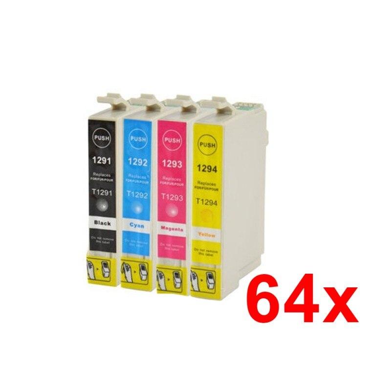Cartucho de tinta  Pack 64 x EPSON T1291/2/3/4 Compatible