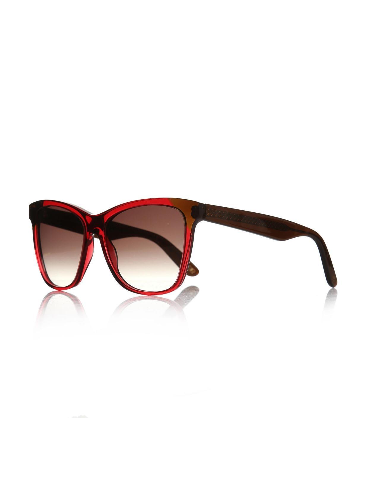 Женские солнцезащитные очки b.v 265/s 4cp 55 js bone Burgundy organic square 55-16-140 bottega veneta