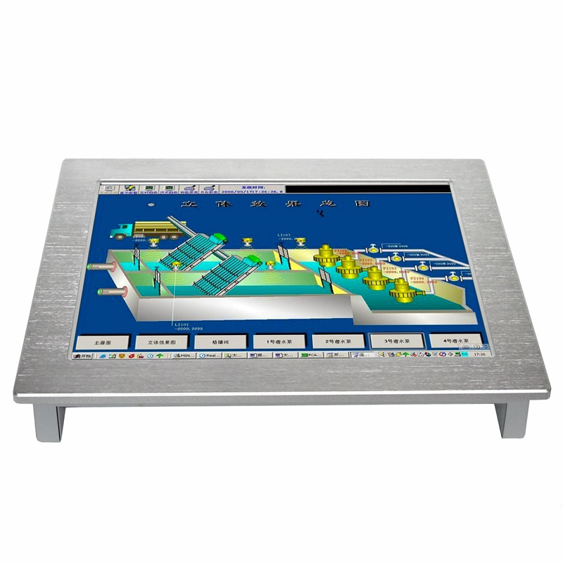 10.4 inch Wall mounted Industrial Touch Screen Panel Pc with j1900 Built in 4Gb ram 64Gb SSD All In One pc