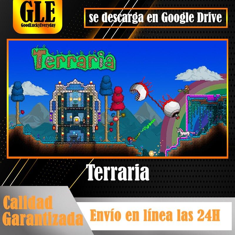 Terraria gry wideo do komputera gry parowe pobierz przez dysk Google rozpakuj z Winzip Winrar