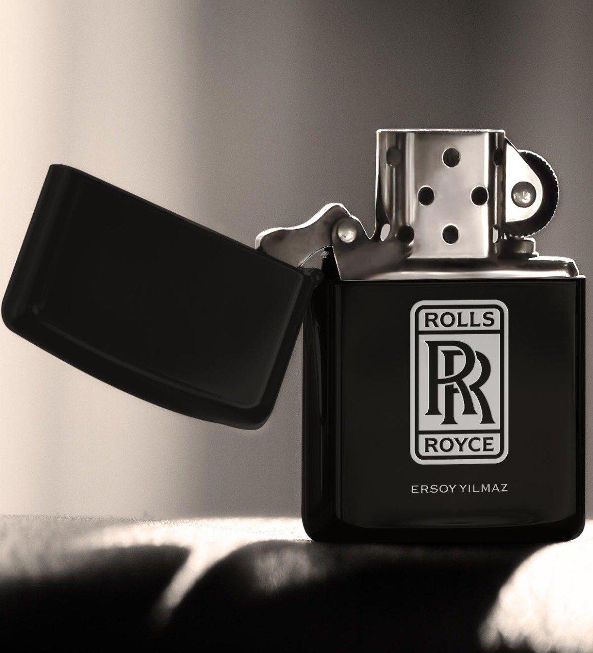 Personalized Rolls Royce Gasoline Black Metal Cigarette Lighter