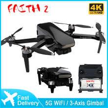 Квадрокоптер Faith 2 4K с камерой, Профессиональный GPS FPV Дрон с 3-осевым шарнирным подвесом, складной Радиоуправляемый квадрокоптер, бесщеточны...