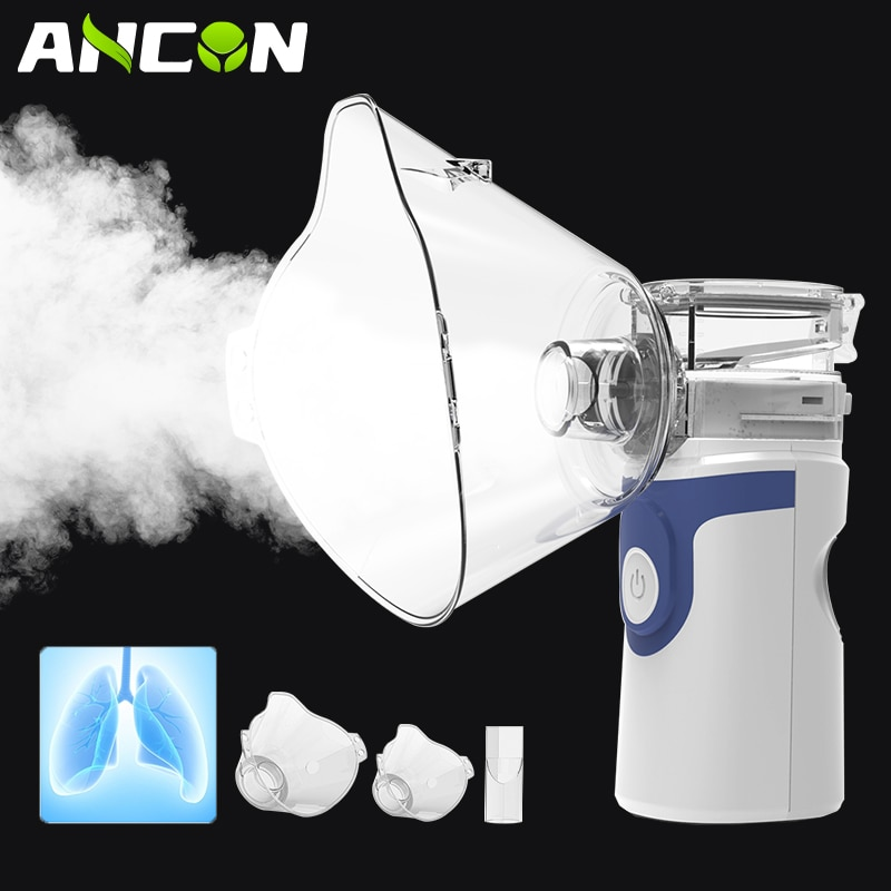 Mini Portable Nebulizer Health Care Inhaler Nebulizator for Baby Kids Adults, Silent Handheld Rechar