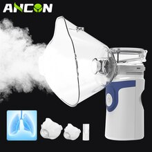 Mini Portable Nebulizer Health Care Inhaler Nebulizator for Baby Kids Adults, Silent Handheld Rechar