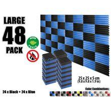Arrowzoom panneau acoustique de Studio   48 pièces, 9.8x9.8