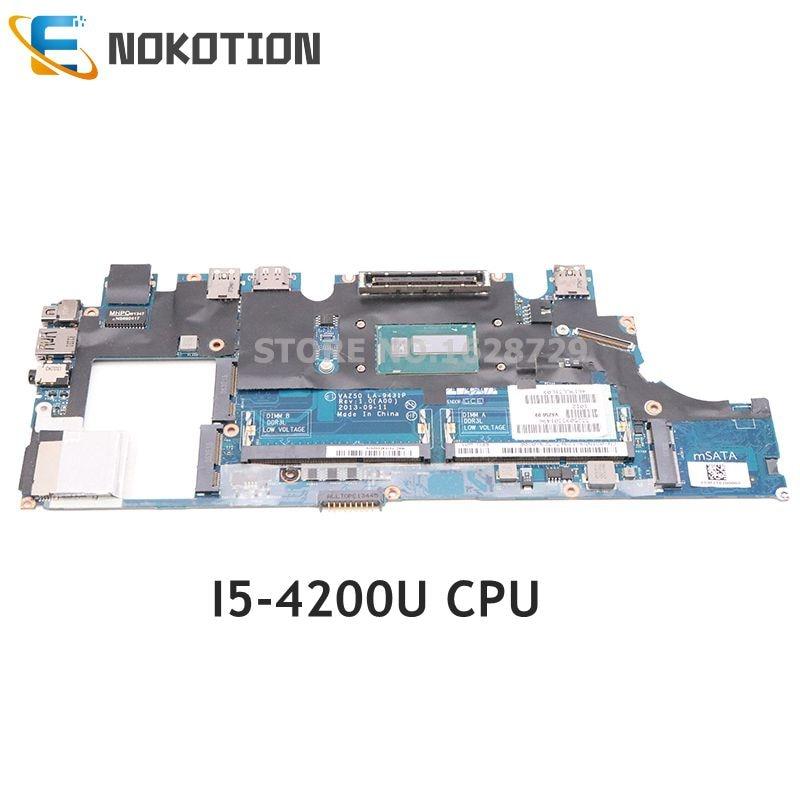 Nokotion vaz50 LA-9431P CN-081ND9 081nd9 81nd9 para dell latitude e7240 portátil placa-mãe sr170 i5-4200U cpu teste completo