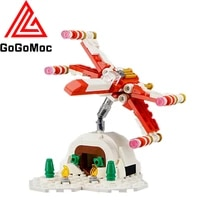 star plan high tech aircraft fighter model building blocks christmas x wing moc republic starfighters bricks toys for children