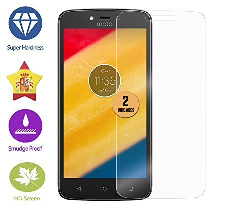 Im77r 2 pcs of Premium 9H tempered glass screen protectors for Motorola Moto C Plus