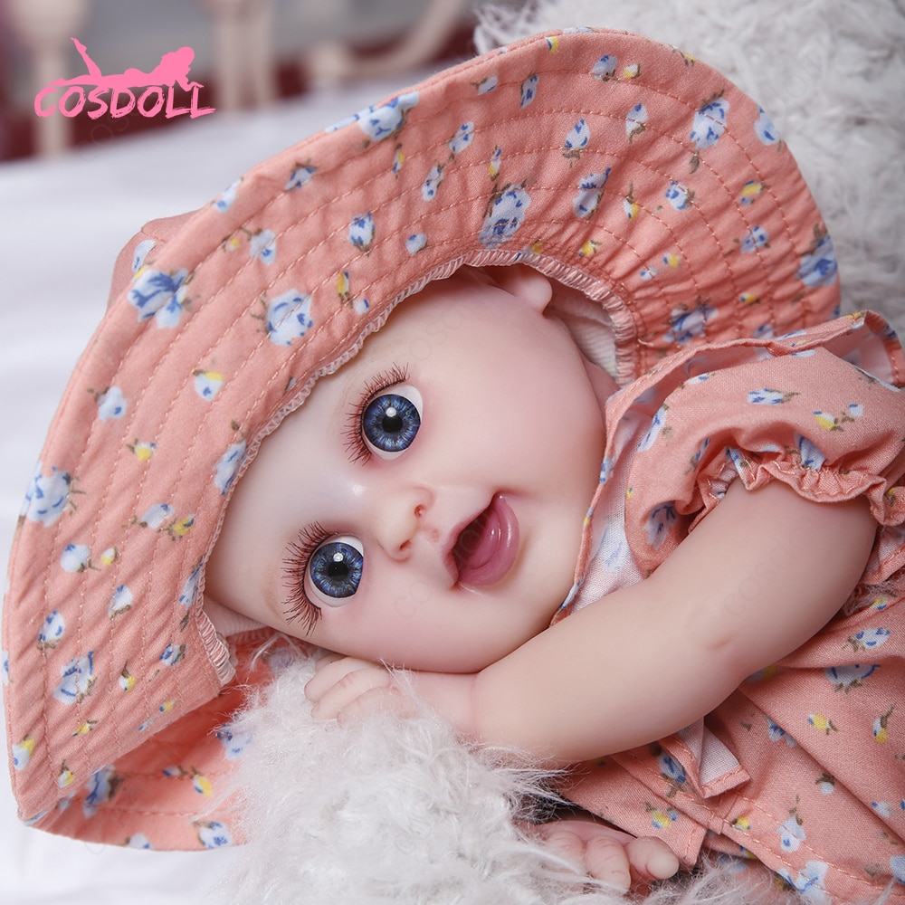 COSDOLL Reborn Doll 33cm 1450g Full Silicone Lifelike Newborn 5 Colors Eyes Choices Realistic Baby T