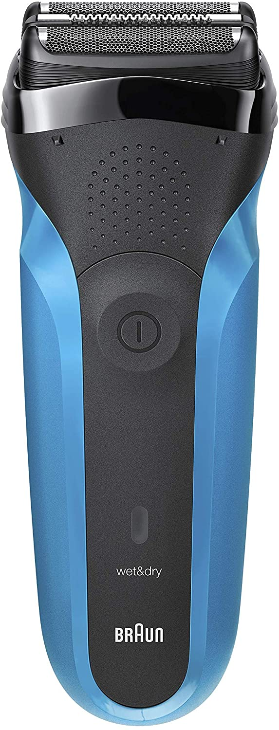 Braun Series 3 310s Wet and Dry Electric Shaver for Men/Rechargeable Electric Razor, Blue enlarge