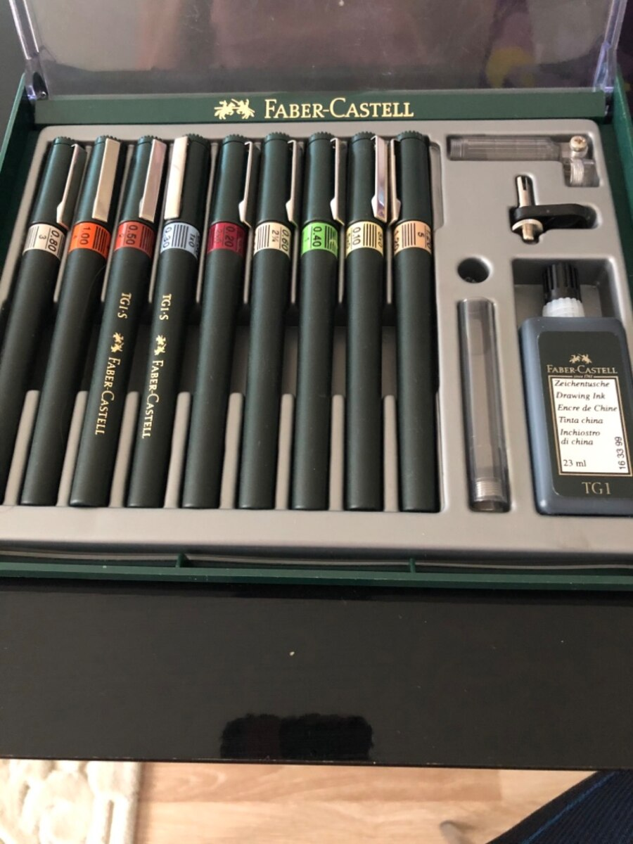 Faber-Castell Technical Drawing Pen Set of 9