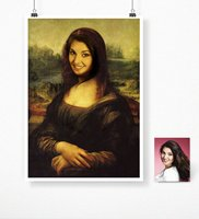 Personalized Mona Lisa Chart Poster (50x70 cm.)