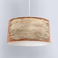 Else Brown Aging Brick Stone Wall Digital Printed Fabric Chandelier Lamp Drum Lampshade Floor Ceiling Pendant Light Shade