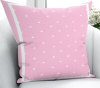 Else White Pink Border Stars Girl Nordic 3D Print Microfiber Throw Pillow Case Cushion Covers Square Hidden Zipper 45x45cm