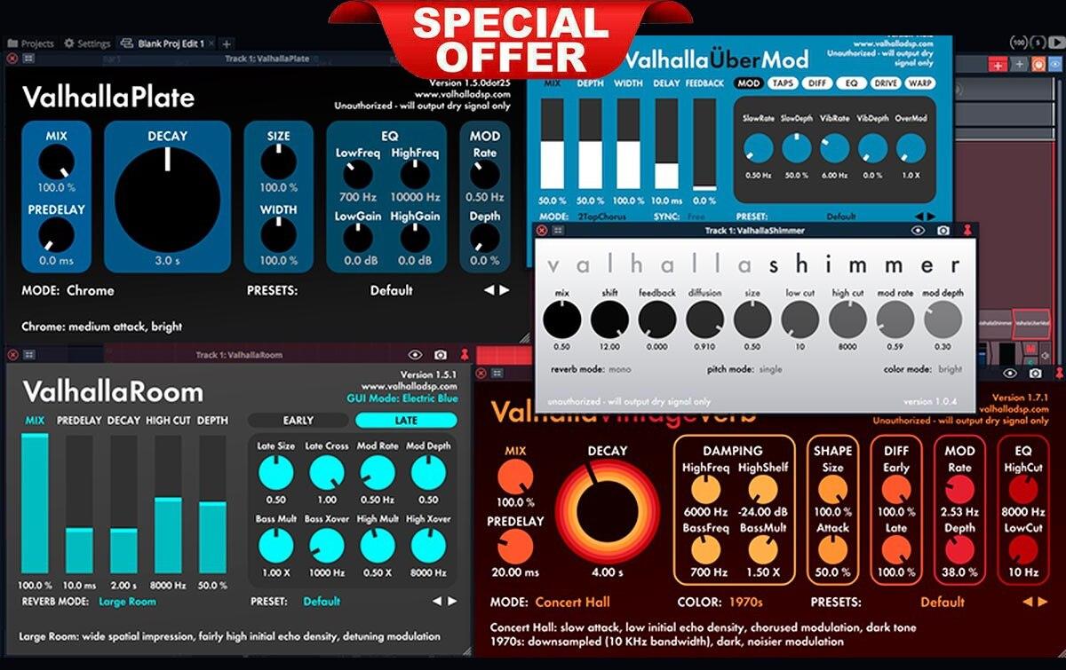 Valhalla Dsp Bundle VST-VST3-AAX-AU For WIN & MAC