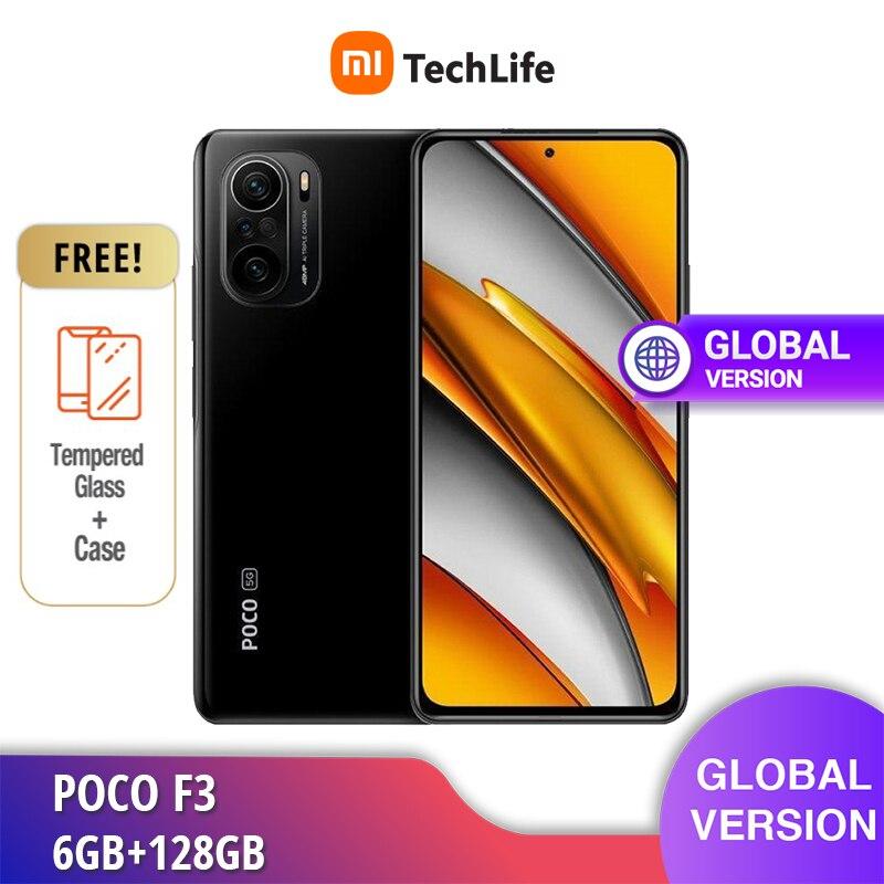 POCO F3 6 ГБ ОЗУ 128 Гб ПЗУ две Sim-карты телефон (абсолютно новый/запечатанный) | Snapdragon | Мобильный телефон Бесплатная доставка